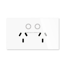 US UK EU standard SOCKET OUTLET PLUG Smart Touch Switch 1 gang 1 way +Remove control wifi CE ROHS FCC EMC SAA