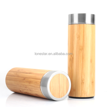 dc054174d54 16oz bamboo stainless steel insulated tea cup for heat preservation