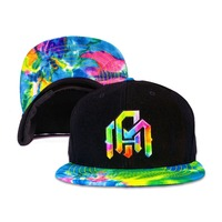 Cool unisex tie dye snapback cap and the snapback cap with propeller famous brand hat caps