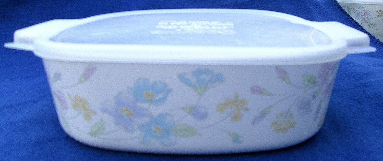 Corning Ware A-2-B Pastel Bouquet Casserole with A-2-PC Storage Lid