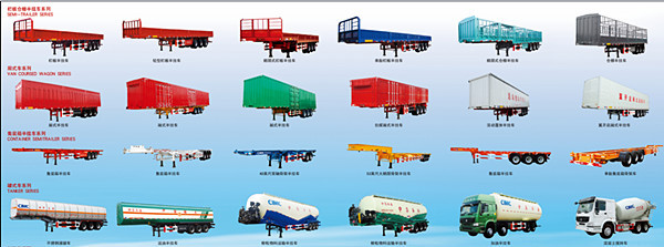 Types Of Tractor Trailers : Cimc gooseneck axle foot skeletal shipping container