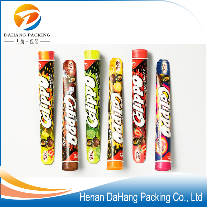 Calippo squeeze ice cream paper cup/tube