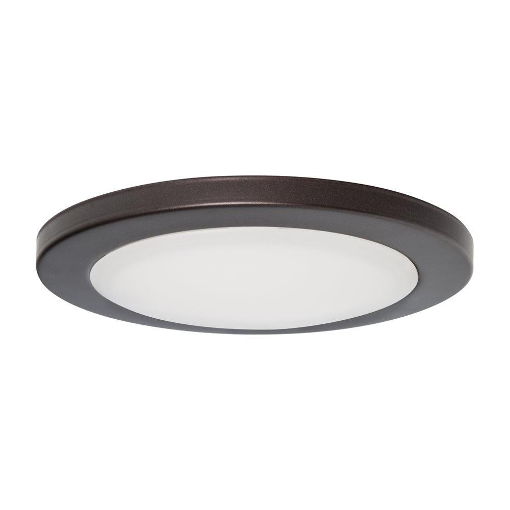 "7"" LED Surface Slim Round Disk Light 120V 15W 3000K Dimmable Bronze"