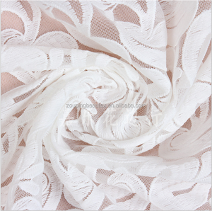 Wholesale cotton/polyester/spandex water soluble embroidered wedding dress fabrics