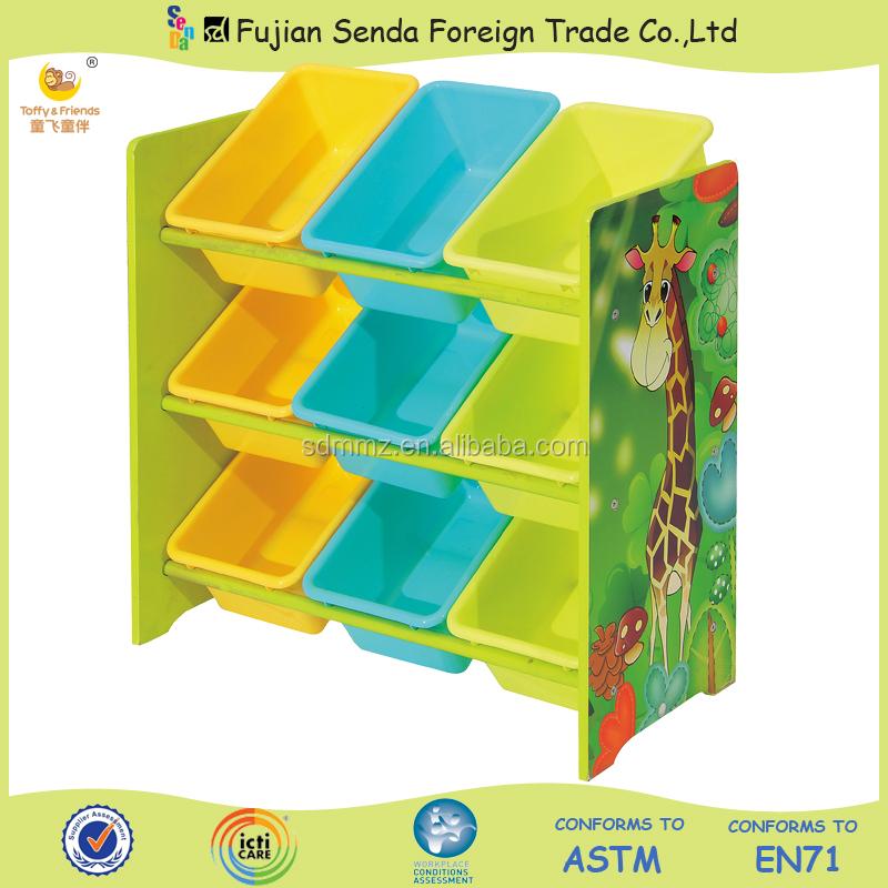 Wooden Kid Toy Organizer Storage