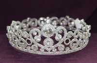 round bridal crown tiara