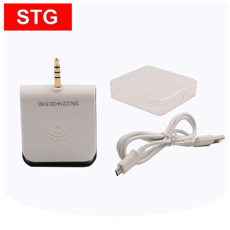 IOS and android phone 3.5mm audio jack card reader