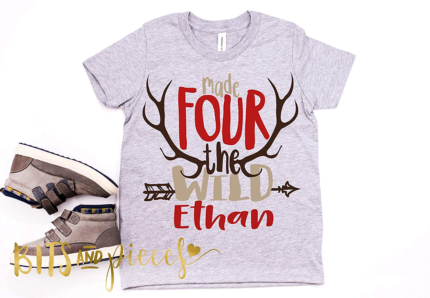 Get Quotations Fourth Birthday Shirt For BoysMade Four The Wild Rustic Hunting Antler Boho Shirts