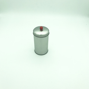 empty tin can with lid bead