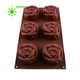 Red Muffin Mould Silicone Flower Shape Cupcake Baking Mold