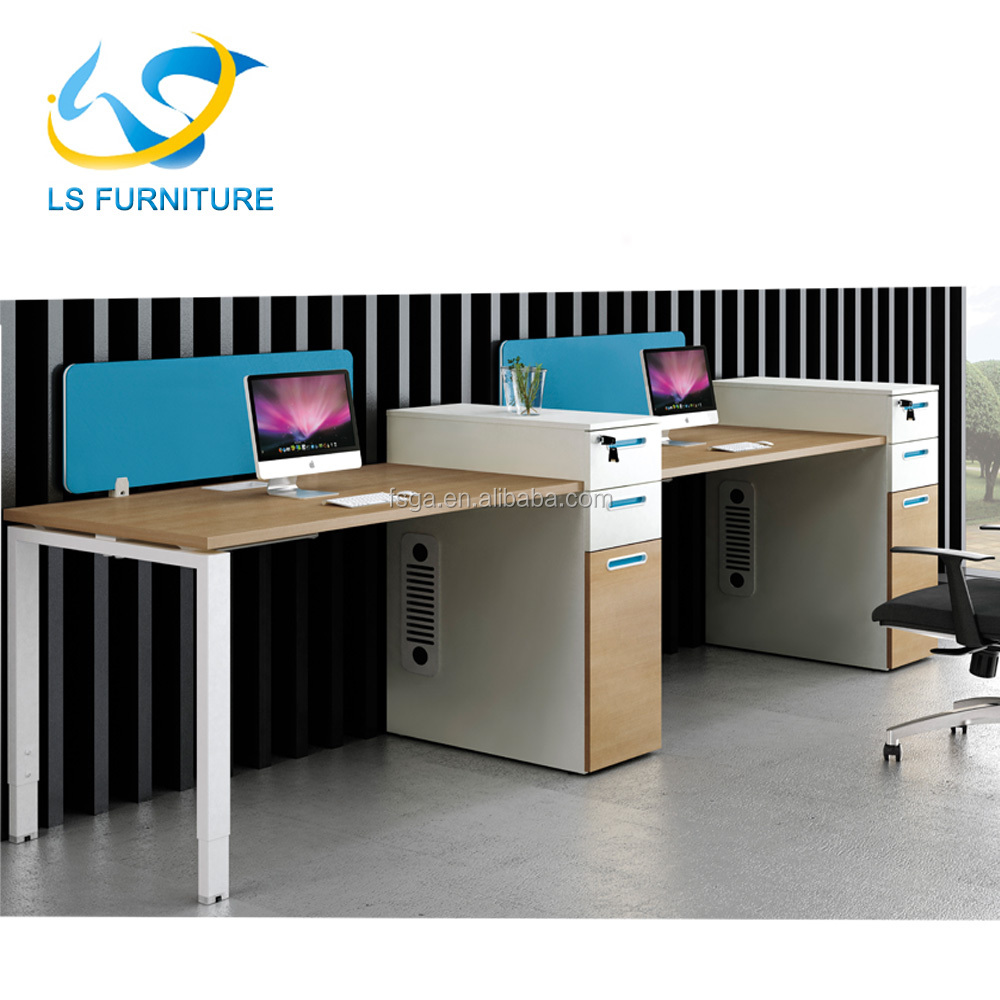 2018 modern design double computer desk system for internet cafe rh alibaba com double monitor computer desk double computer desk with hutch