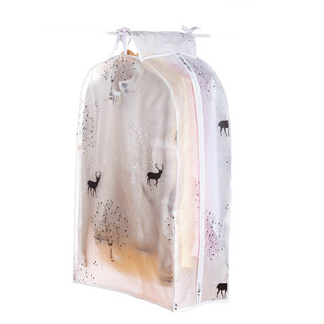 "Garment Bags, Yamix Thicken PEVA Hang Dustproof Clothes Storage Bag Garment Suit Coat Dust Cover,Garment Bag Covers Protector,Dress Suit Bag,Clothes Storage Bag 23.6"" x 35.4"" x 11.8"" - Carton Fawn"