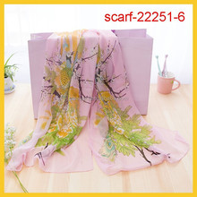 uniform silk animal phoenix print scarf design