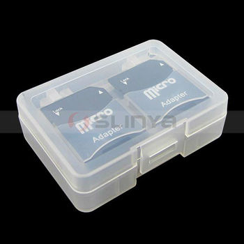 Wholesales Stable Protective Memory Card Case SD MMC Plastic