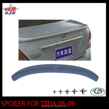 Rear lip spoiler for tiida 2006-2009 without led light abs spoiler