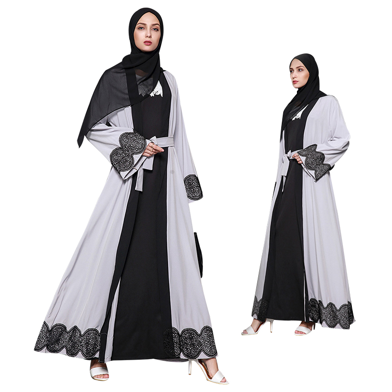 Modest fashion dubai fancy uslim lace islamic clothing latest abaya designs 2017 dubai