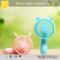 New arrival fashion plastic electric desktop usb mini portable fan with cute cat shape