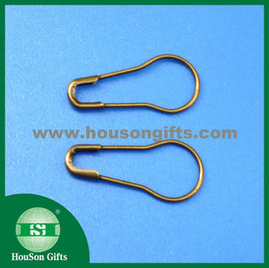 2016 pear safety pin gourd shape safety pin 22mm brass safety pins wholesale