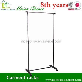 iron tube garment rack laundry drying rack folding clothes racks with wheels - Metal Clothes Rack