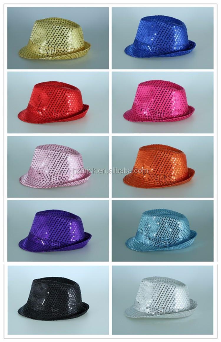 Flashing Light Up Fedora Caps Light Blue Fedora Hat Pork Pie Hat ... 13a05e25e439