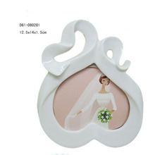 White porcelain wedding photo frame
