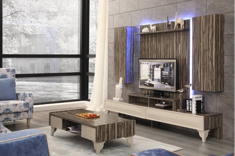 Modern living room led tv unit furniture buy tv showcase for Drawing room farnichar