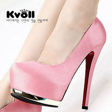 Brief Satin high heel shoes