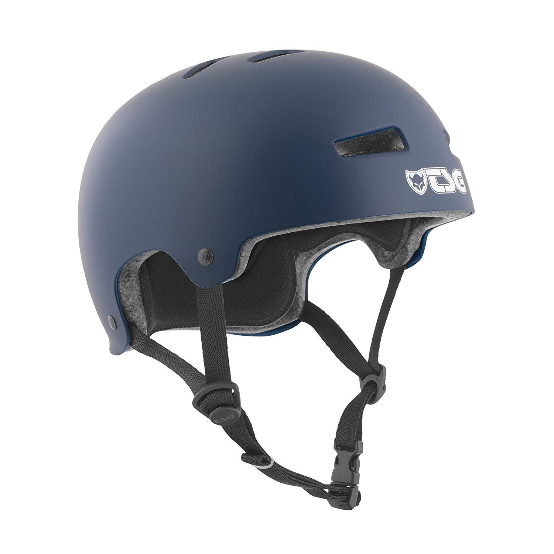 TSG - Evolution Solid Color (Satin Blue, S/M 54-56 cm) Helmet for Bicycle Skateboard
