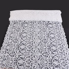 New design heavy beaded sequin embroidery bridal white nylon lace fabric wedding dress