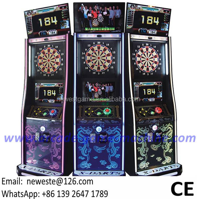 maquinas de juego For The Bar and Clubs, Multi Players Competition Electronic Coin Operated Arcade Lucky Dart Board Game Machine