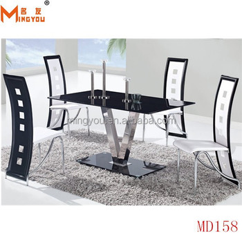 Elephant Dining Table With Glass Top Metal Legs