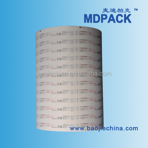 Medical Blister Printed Paper Roll for syringe