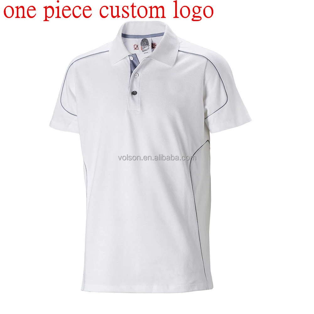 VOLSON cotton lycra single bead custom t shirt printing custom logo polo shirts t shirt