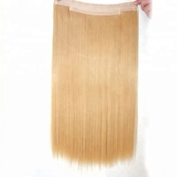 High quality double drawn 100% indian remy human hair factory price halo in hair extension