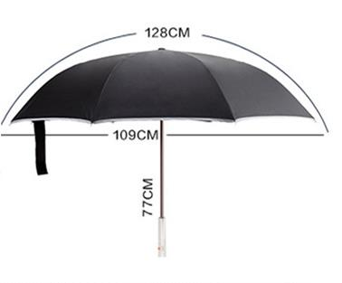 Wholesale Price with Stock and Small order double - layer long handle umbrella Lighting reverse umbrella