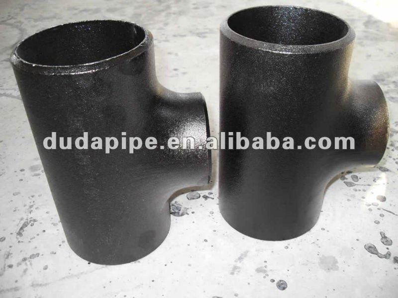 stainless steel pipe reducing tee dimensions A234 WPB carbon steel equal tee(ANSI,JIS,DIN,GB standard)