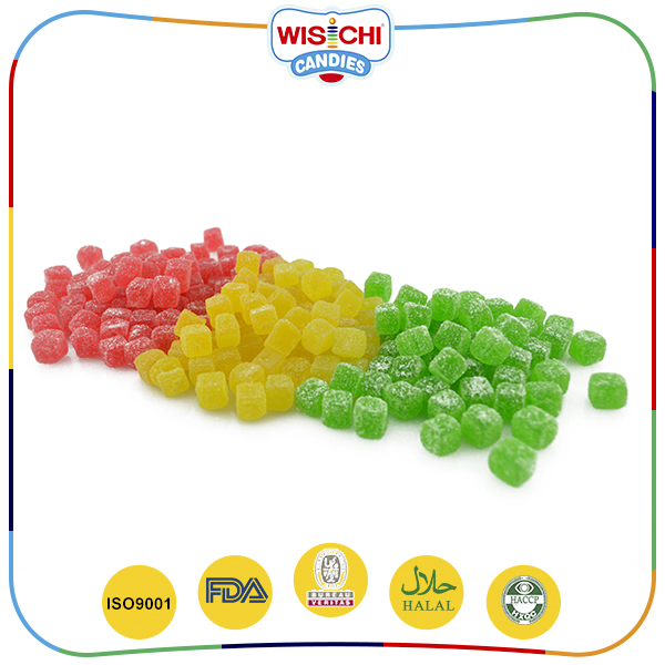 Best selling assorted sugar coated fruit flavored soft gummy sour