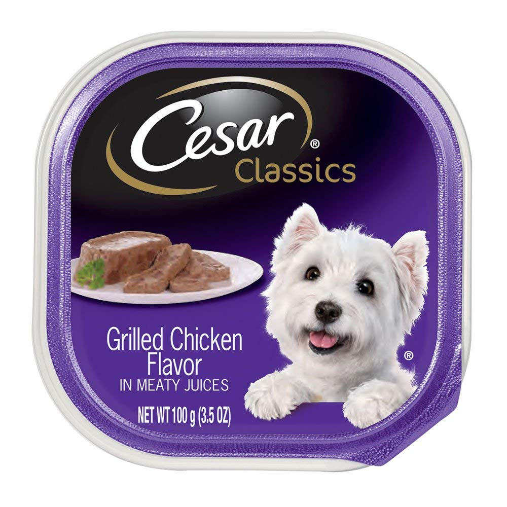 CESAR Canine Cuisine Grilled Chicken Flavor in Meaty Juices Canned Dog Food (Pack of 12)