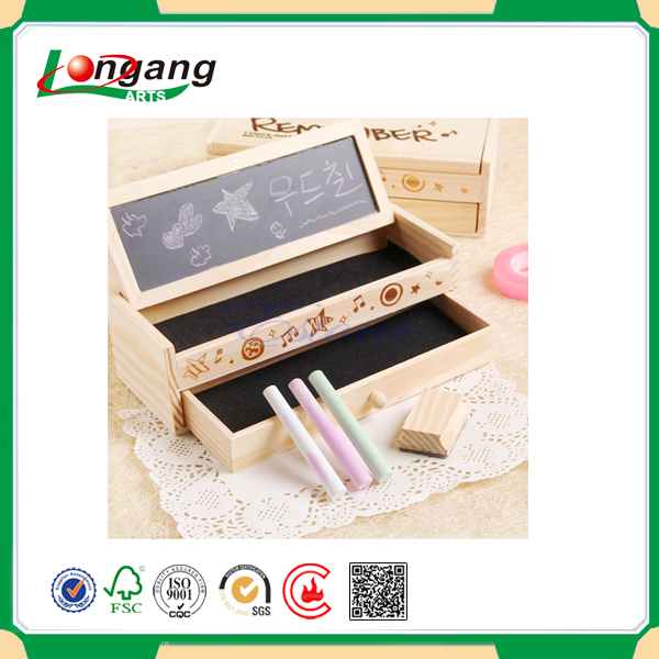 wholesale wooden box for children learning chalk box