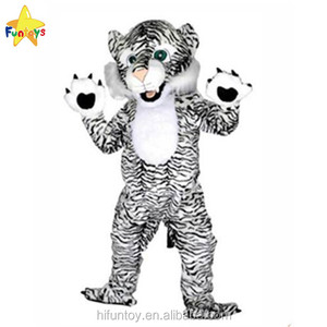 Funtoys CE Black And White Tiger Mascot Costumes For Adults Christmas Outfit