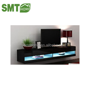 TV STAND black high gloss acrylic LED light with cheap price