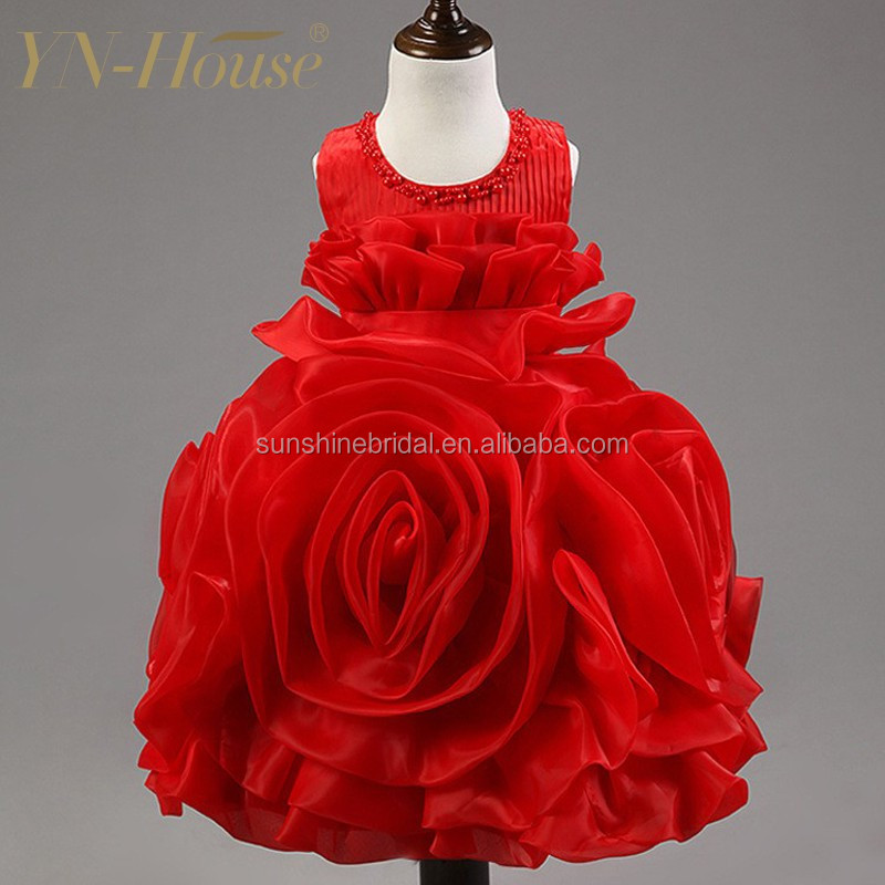 Wholesale Price 5 Color The Most Beautiful Sleeveless Flower Girl Dress For 7 Year Old