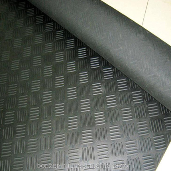 Anti-slip 4 Bar Checker Rubber Mat Manufacture In china