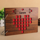 Personalized Wholesale Guest Book Wooden Cover Baby Wedding Love Anniversary Memory Wooden Photo Album