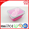 Food grade Silicone and Plastic Container, Promotional Gift Snack Container