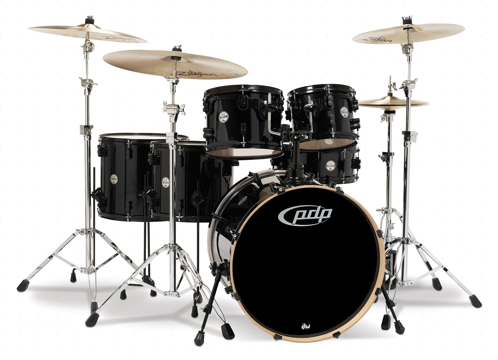 Pacific Drums PDCM2216PB Concept Series 6-Piece Drum Set - Pearlescent Black