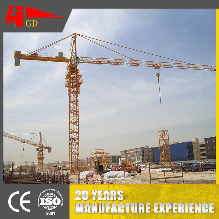 10 ton self-raising CE certification tower crane TC6018/ QTZ 125