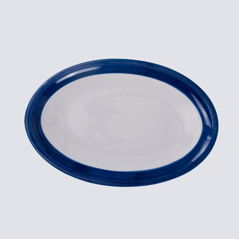 product-moroccan wholesale ceramic plates blue pasta soup plate porcelain-Two Eight-img-4