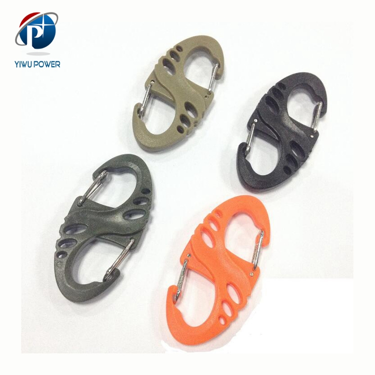 YP-SA-0058 Outdoor Mountain Climbing EDC Gear Belt Plastic Buckle Backpack 8 Shaped Hang Buckle