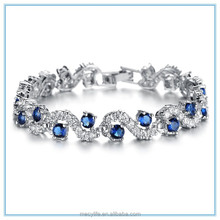 MECYLIFE wholesale high quality fertility bracelet plated silver tennis bracelets for woven